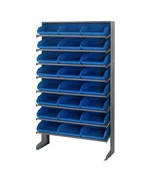 Sloped Shelf Storage Bin and Rack Unit with 24 Bins by Quantum Storage Systems