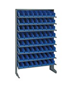 Sloped Shelf Storage Bin and Rack Unit with 64 Bins by Quantum Storage Systems