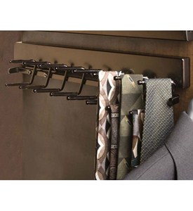 Deluxe Sliding Tie Rack - Oil Rubbed Bronze Image