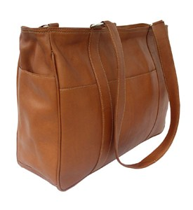 Small Leather Shopping Bag by Piel Leather Image