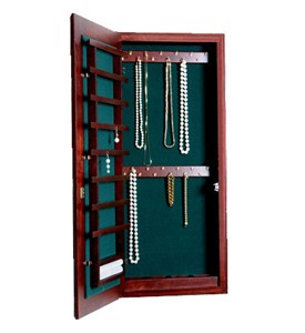Small Wall Mounted Jewelry Cabinet - No Lock Image