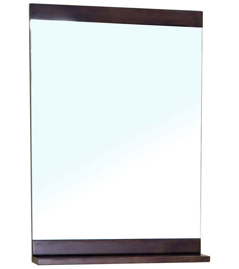 Small ledge shelf frame mirror in framed mirrors for Small white framed mirrors