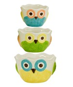 Small Prep Bowls - Floral Owls