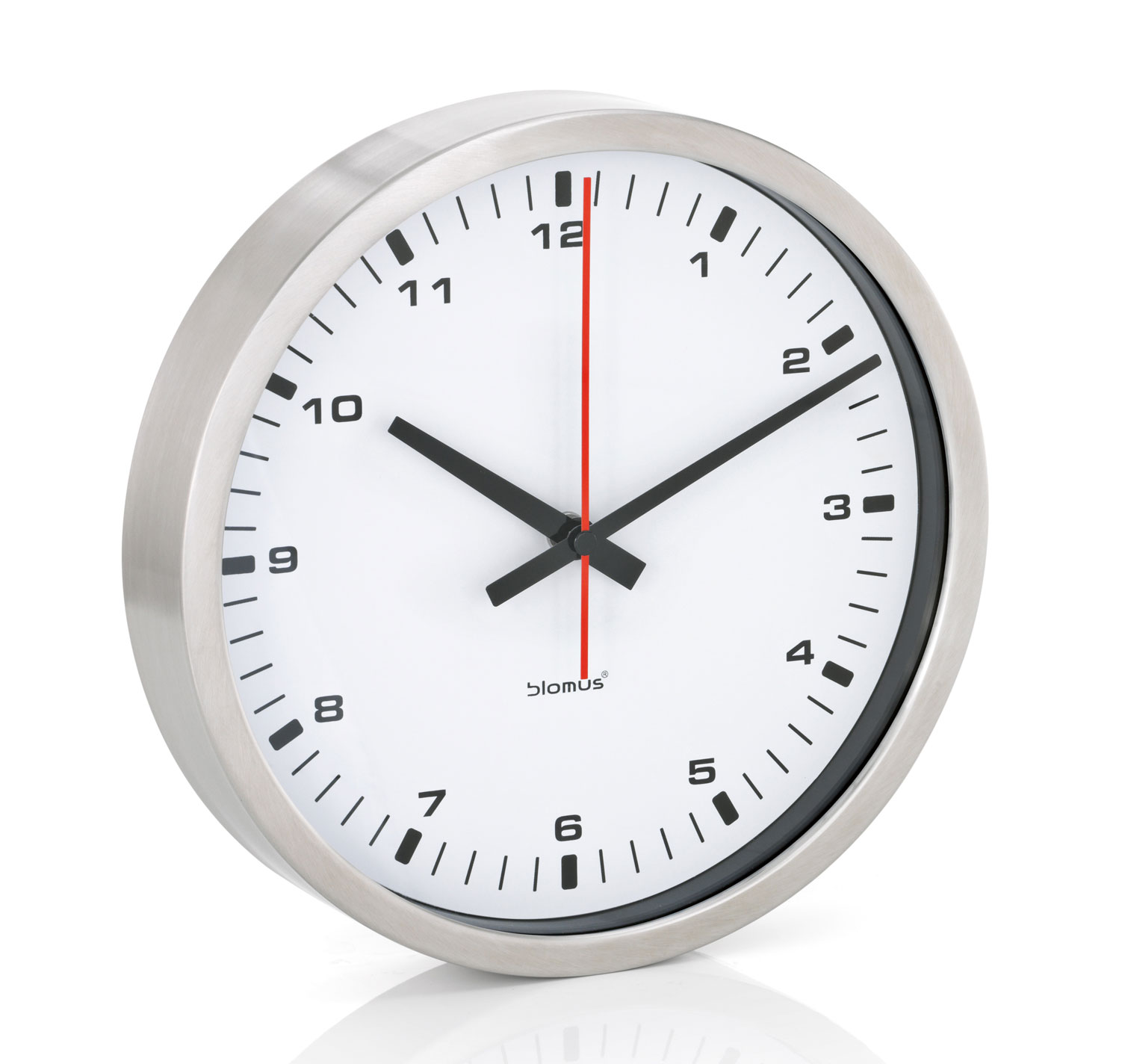 small stainless wall clock by blomus in wall clocks. Black Bedroom Furniture Sets. Home Design Ideas