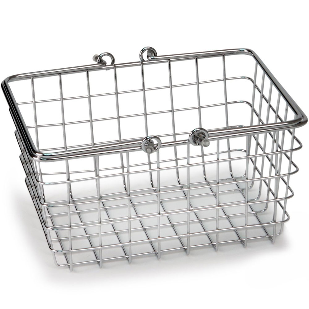 Small Wire Basket with Handles in Wire Baskets