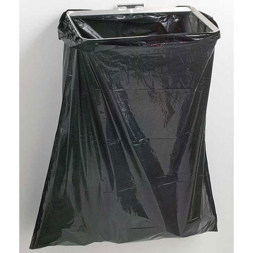 Small Garbage Bags : Small wall mount trash bag holder in garage storage racks