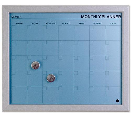 Dry Erase Calendar Magnetic : Monthly magnetic dry erase calendar blue in boards
