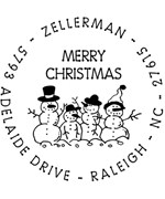 Snow Family Personalized Holiday Address Stamp
