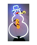 Neonetics Snowman Neon Sculpture - by Neonetics