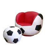 Soccer Chair and Ottoman Set by O.R.E.