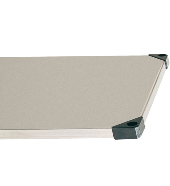 Solid Stainless Steel Shelf In Intermetro Solid Shelves