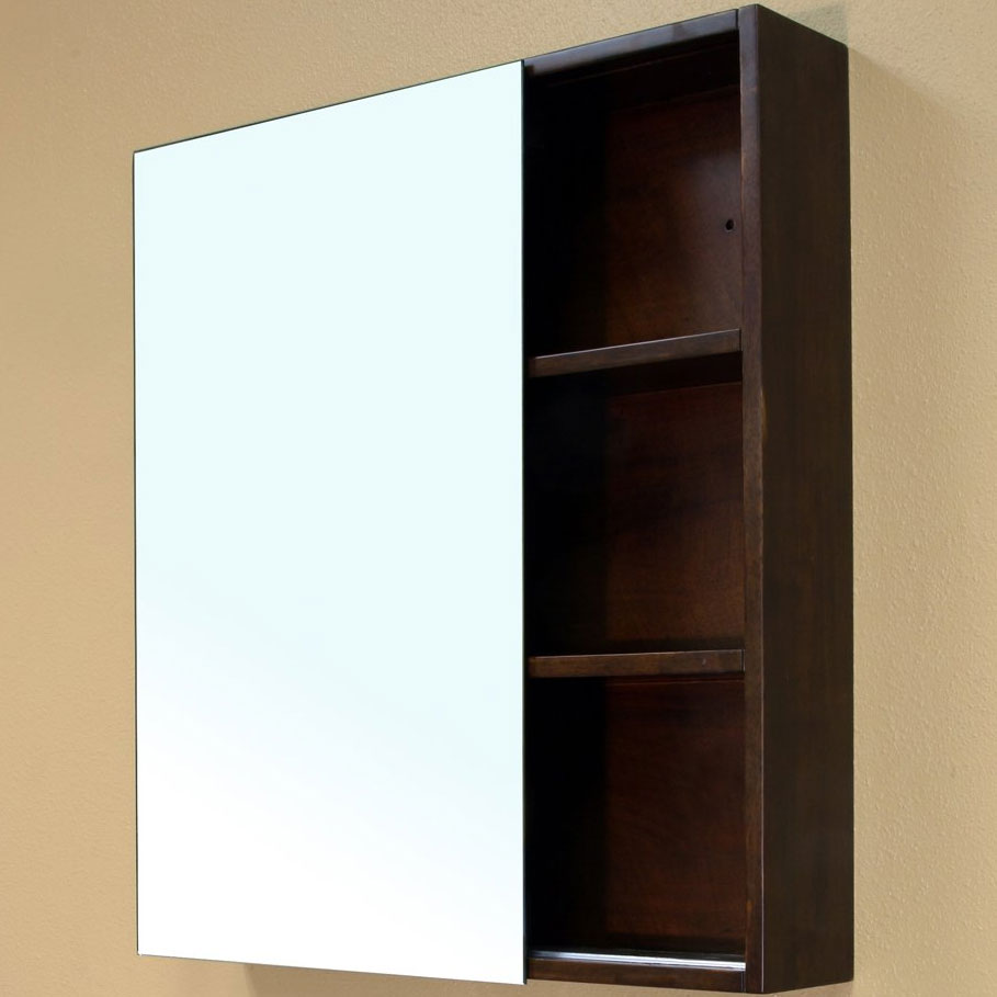 Solid Wood Cubbyie Frame Mirror Cabinet By Bellaterra Home In Bathroom Medicine Cabinets