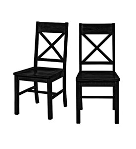 Solid Wood Dining Chairs (Set of 2) by Walker Edison Image