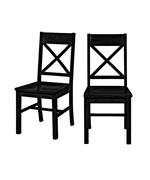 Solid Wood Dining Chairs (Set of 2) by Walker Edison