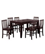 Solid Wood 7-Piece Dining Set