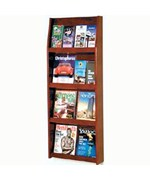 Slope Solid Wood Literature Display Rack - 16 Pocket by Wooden Mallet