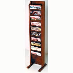 Cascade Solid Wood Literature Rack - 10 Pocket by Wooden Mallet Image