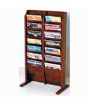 Cascade Solid Wood Literature Rack - 14 Pocket by Wooden Mallet