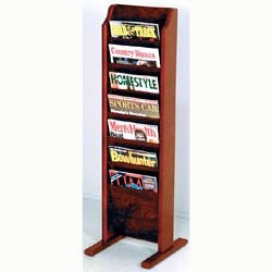 Cascade Solid Wood Literature Rack - 7 Pocket by Wooden Mallet Image