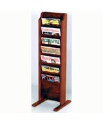 Cascade Solid Wood Literature Rack - 7 Pocket by Wooden Mallet