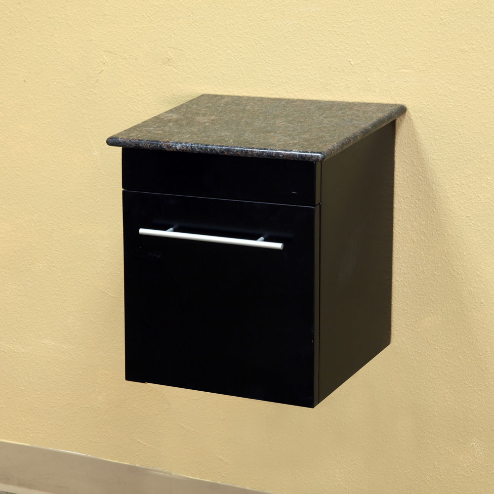 Solid Wood Modern Wall Mount Style Side Cabinet By Bellaterra Home In Bathroom Medicine Cabinets