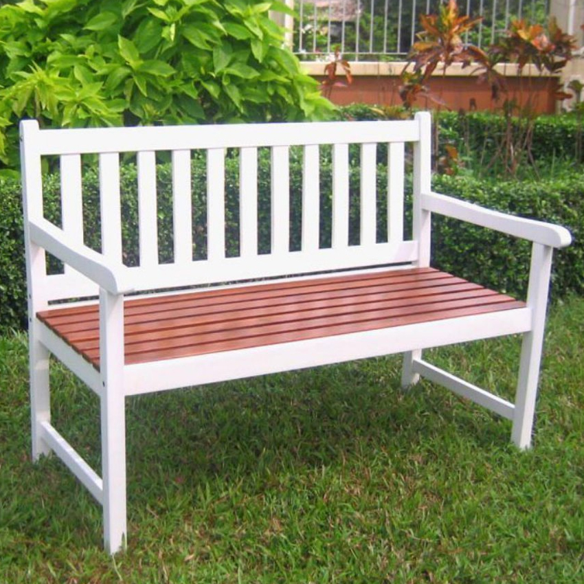 Wooden Patio Bench ~ Solid wood outdoor bench in benches