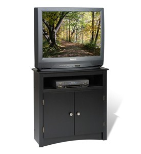 Sonoma Corner TV Stand and Cabinet - Black Image