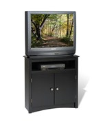 Sonoma Corner TV Stand and Cabinet - Black