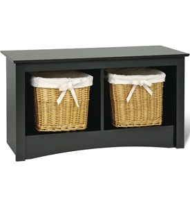 Sonoma Twin Cubby Storage Bench - Black Image