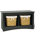 Sonoma Twin Cubby Storage Bench - Black