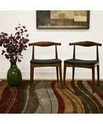 Sonore Solid Wood Mid-Century Style Dining Chair - Set of 2 - by Wholesale Interiors - DC-593