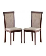Spain Dark Brown Modern Dining Chair - Set of 2 - by Wholesale Interiors - 107/309