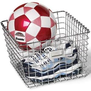 Chrome Wire Locker Storage Basket Image