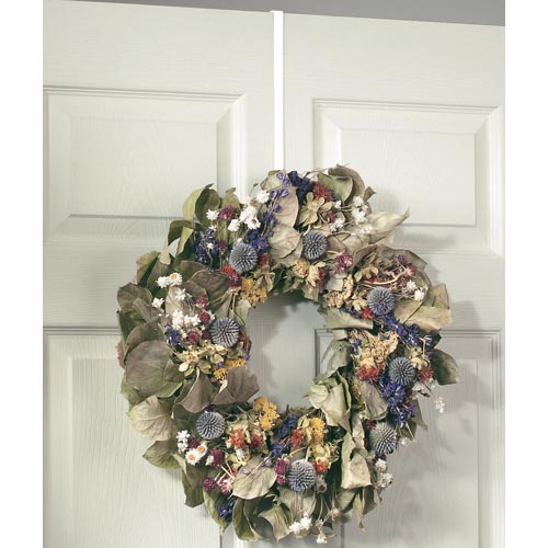 Over The Door Wreath Holder White In Holiday Wreath Storage