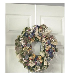 Over the Door Wreath Holder - White Image