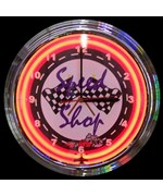 Speed Shop Neon Clock by Neonetics