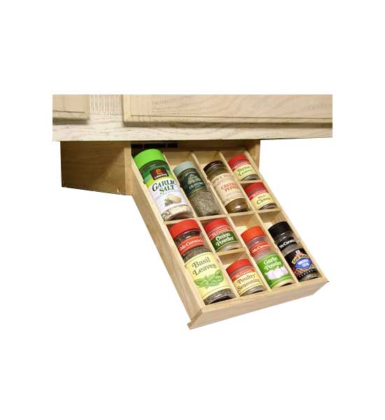 spice organizer under cabinet in under shelf storage racks