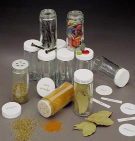 Glass Spice Bottles - 3.5 Ounce Image