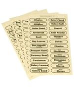 96 Rectangle Spice Labels