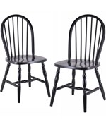 Spindle Back Dining Chairs - Black