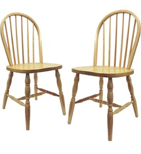 Spindle Back Dining Chairs - Natural (Set of 2) Image
