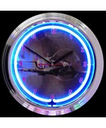 Spit Fire Neon Clock by Neonetics