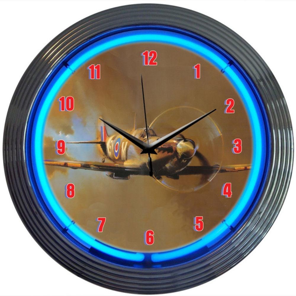Spit Fire Neon Clock by Neonetics in Wall Clocks