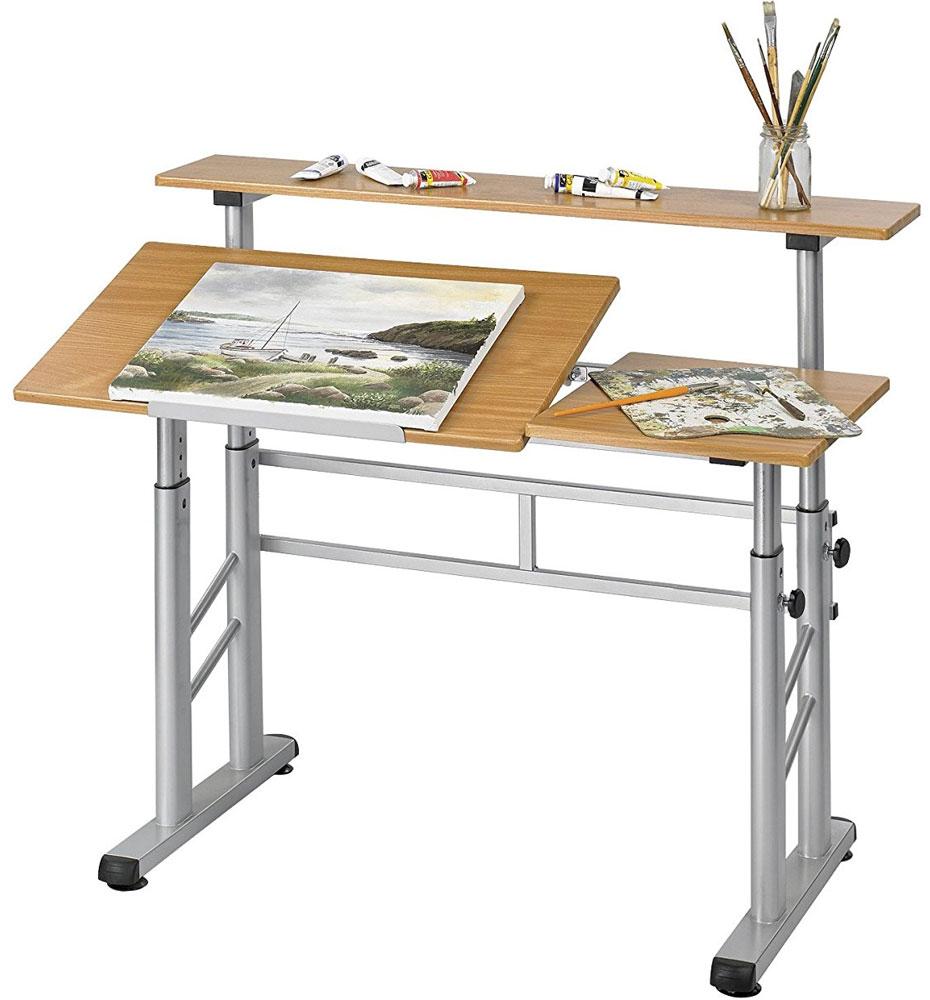 Split level drafting table in drafting tables for Art table design
