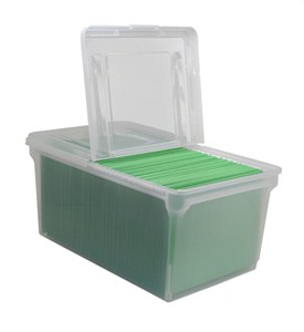 Split Lid Stacking File Box Image