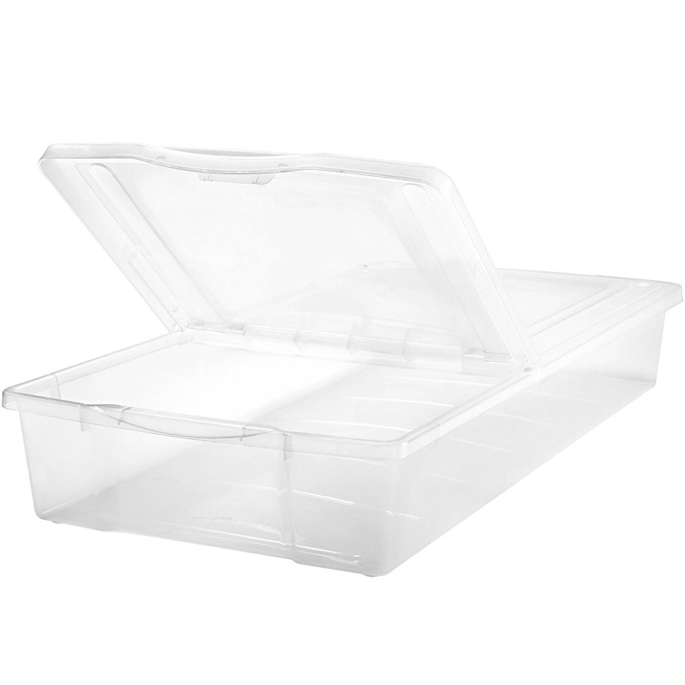 split top plastic underbed storage box image