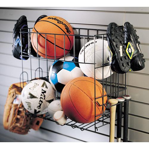 Grid Sports Rack And Basket In Garage Grid Accessories