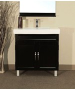 Square 31.5 Inch Single Sink Vanity Wood by Bellaterra Home