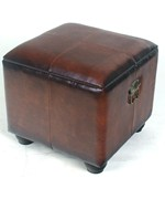 Square Faux Leather Ottoman with Lid by International Caravan