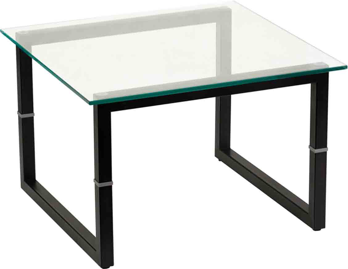 Square frame glass end table by flash furniture in side tables for Glass end tables